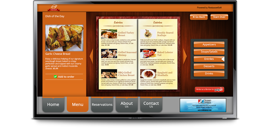 restaurantsoft screen