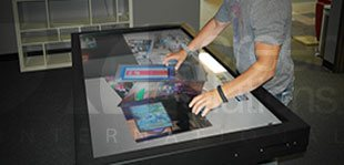 touch table digital display technology
