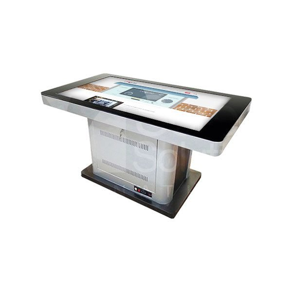 sleek and modern touch table