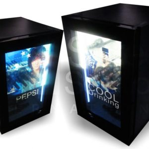 transparent lcd display fridge